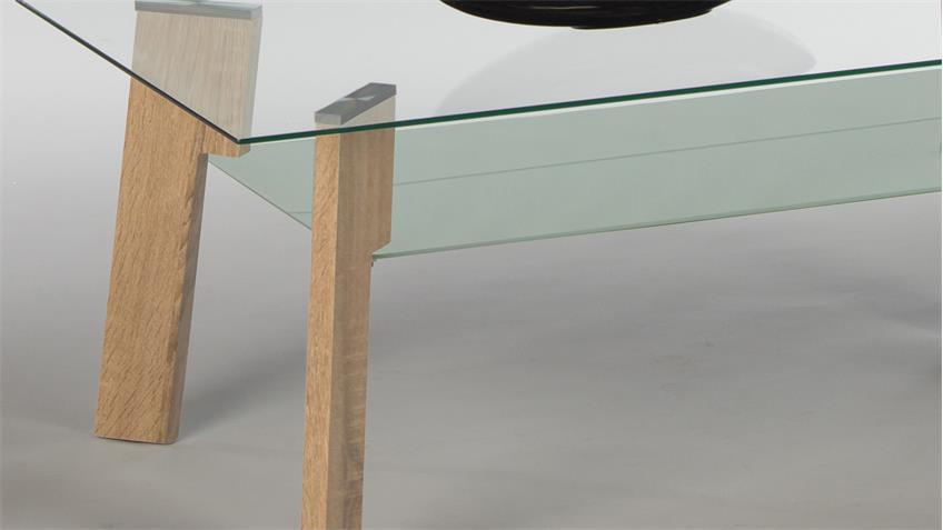 Nauhuricom  Couchtisch Sonoma Eiche Glas ~ Neuesten