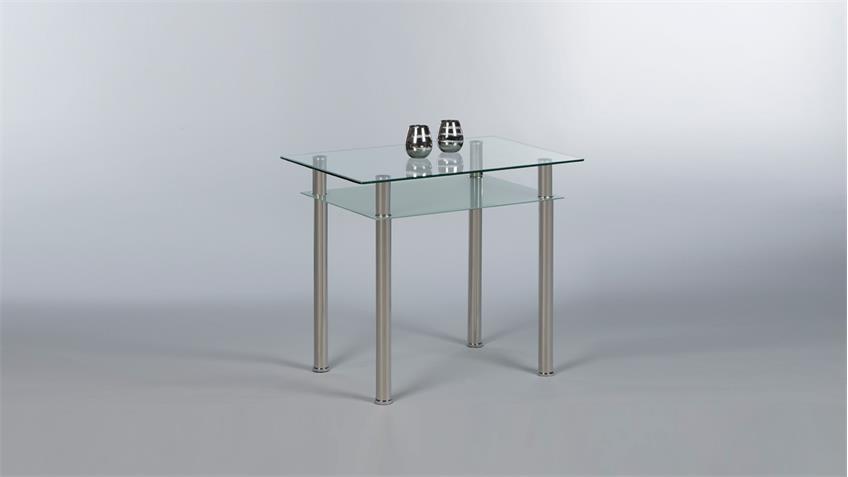 Esstisch TOMMY Esszimmertisch Tisch Küchentisch Glastisch 90x60