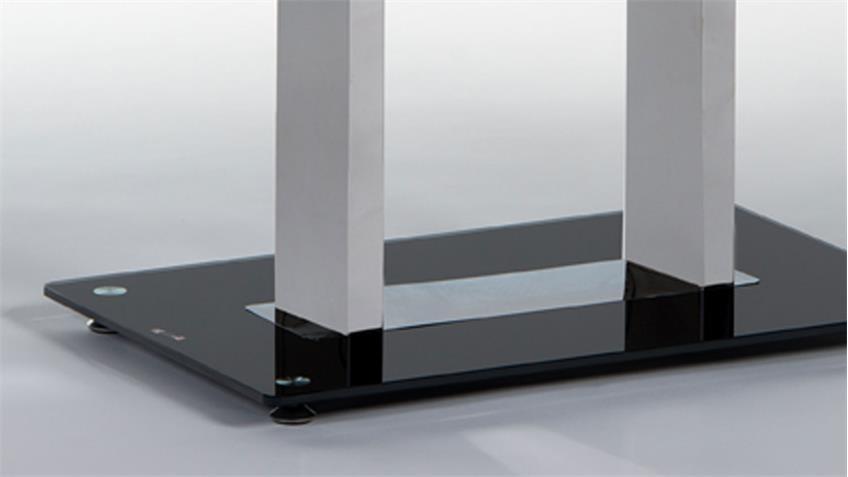 Couchtisch Black Glasplatte schwarz lackiert 110 x 60 cm