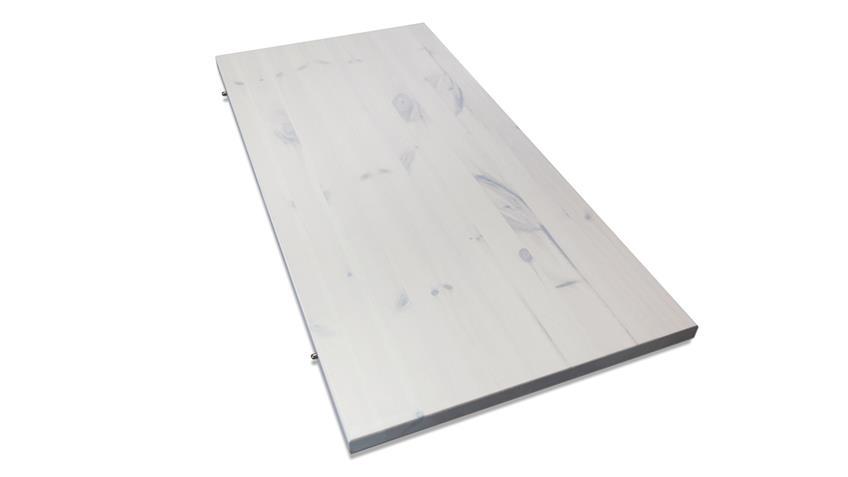 Einlegeplatte MONACO Kiefer massiv Weiß White Wash