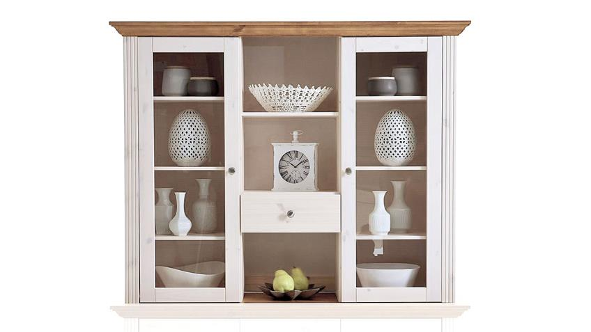 Buffet MONACO Kiefer massiv Weiß White Wash Provence