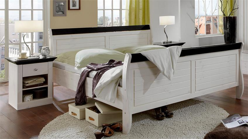 Schlafzimmer MONACO Kiefer massiv White Wash Kolonial