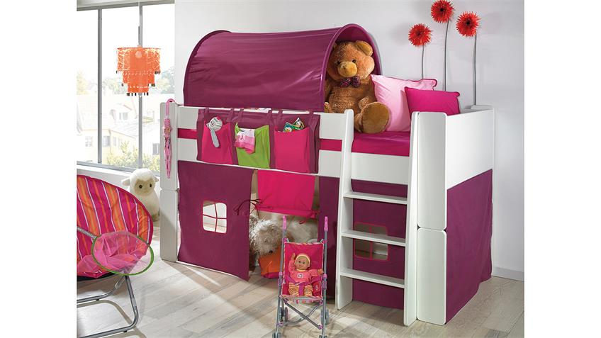 hochbett steens for kids wei mdf 90x200 cm. Black Bedroom Furniture Sets. Home Design Ideas