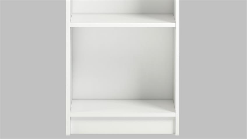 Regal ANETTE Bücherregal in weiß niedrig/schmal 40cm breit