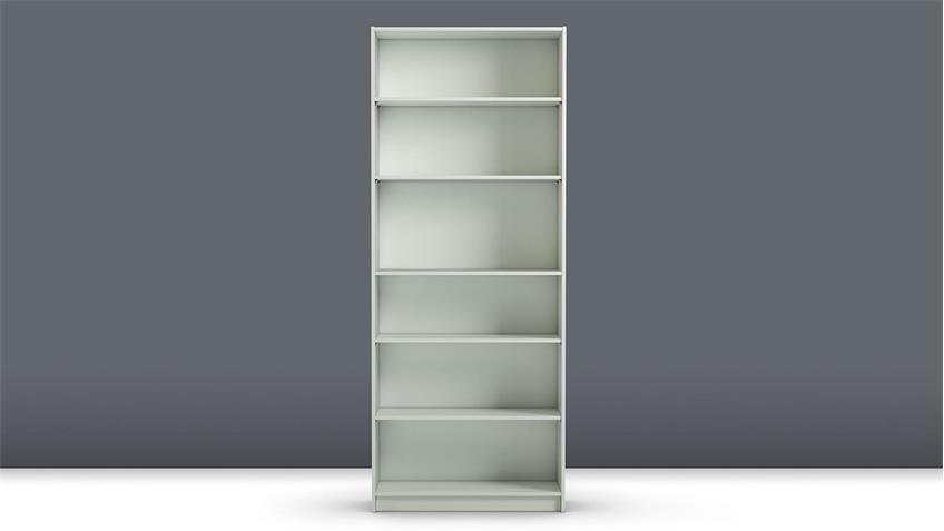 Regal ANETTE Bücherregal in weiß hoch/breit 80cm breit