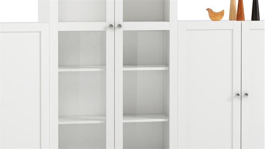 Regalwand 1 ANETTE Schrank in weiß 6-teilig