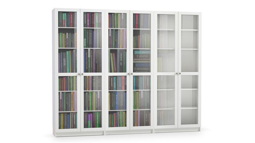 Regalwand 2 ANETTE Schrank in weiß 6-teilig