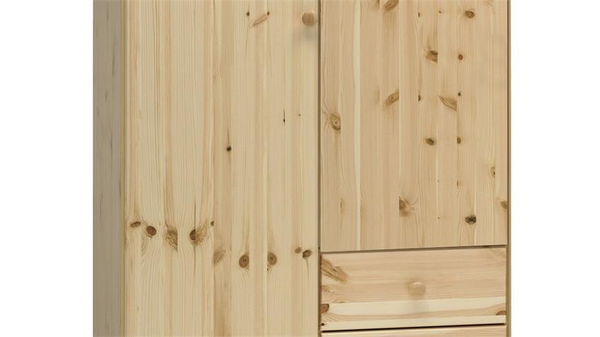 Kleiderschrank 4 AXEL Schrank Kiefer massiv und Natur lackiert