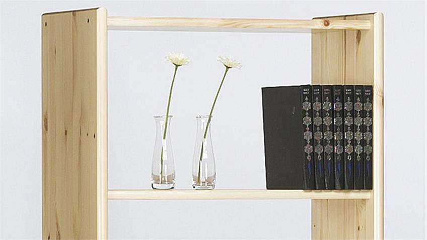 Regal AXEL in Kiefer massiv Natur lackiert Bücherregal 64x170cm