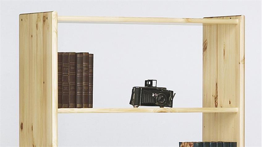 Regal AXEL Bücherregal in Kiefer massiv Natur lackiert 84x170cm