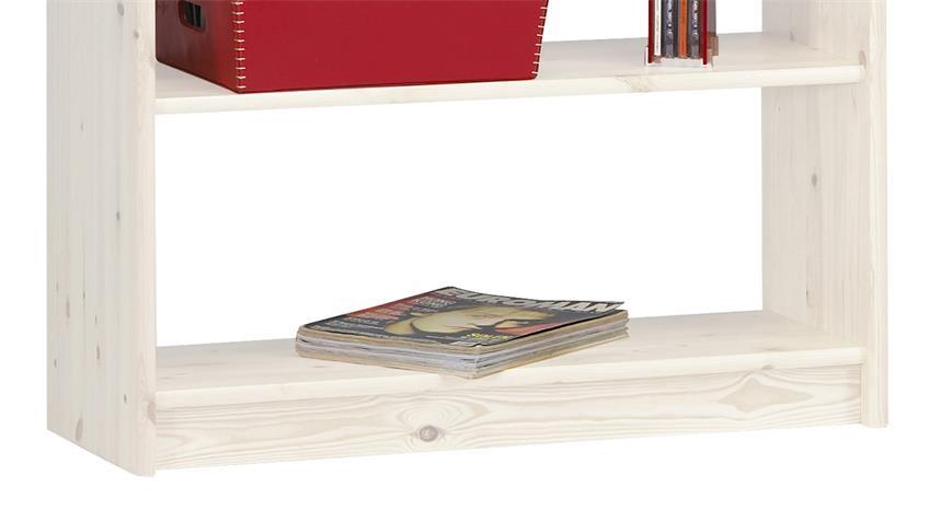 Regal AXEL 84x170cm Bücherregal in Kiefer massiv White Wash