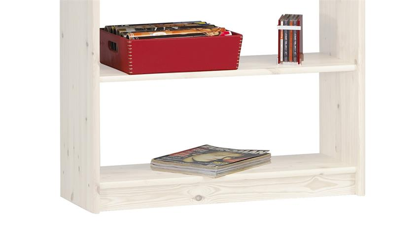 Regal AXEL 84x205cm Bücherregal in Kiefer massiv White Wash