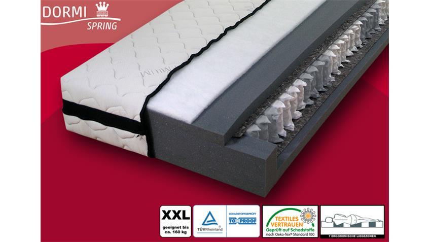 Taschenfederkern Matratze DORMISPRING 7 Zonen XXL 140x200