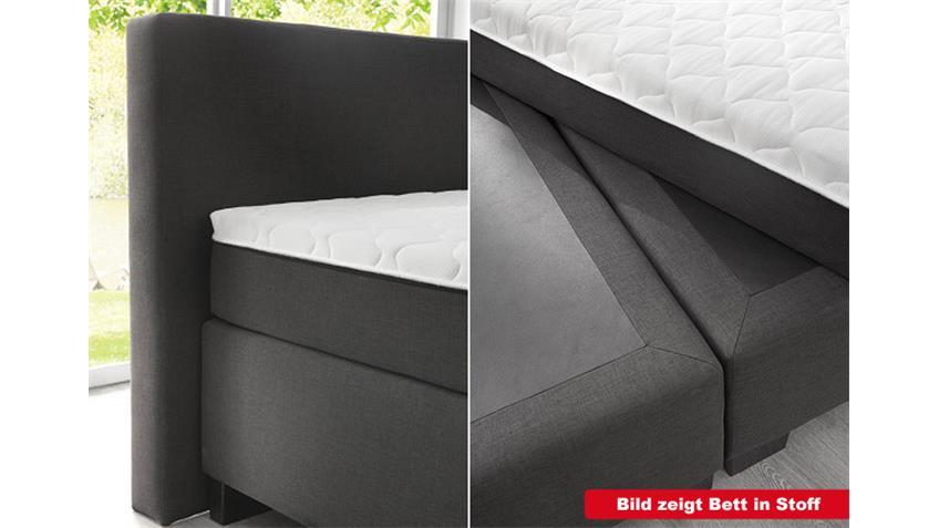 Boxspringbett BX 290 in schwarz 180x200 mit Topper