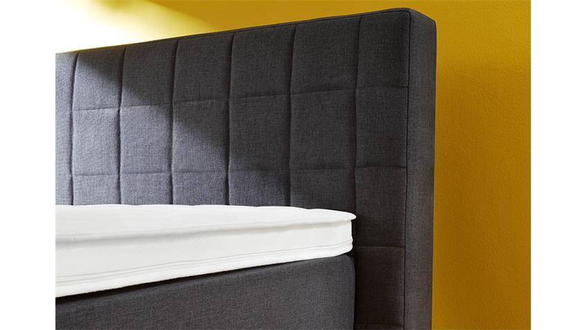 Boxspringbett BX 630 Schlafzimmerbett in anthrazit 180x200