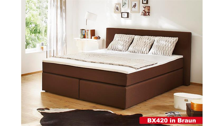 Boxspringbett BX420 Schlafzimmerbett in anthrazit 140x200
