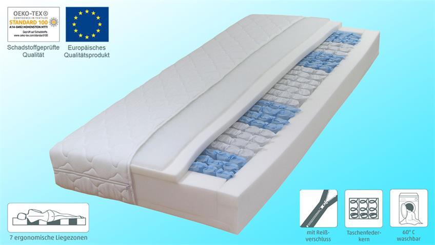 Matratze DORMISPRING T100 Taschenfederkern 140x200 cm