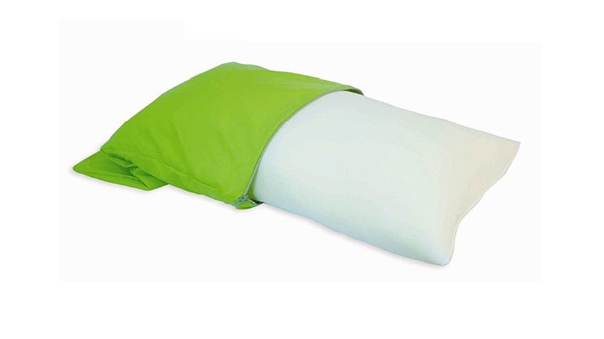 Reisekissen WIEBKE Kissen mit Aufbewahrungstasche in grün