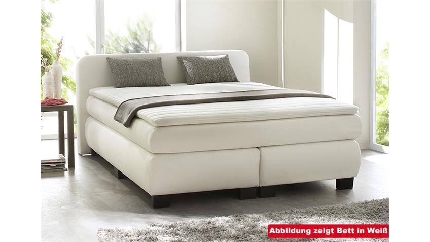 boxspringbett bx 300 schlafzimmerbett in anthrazit 140x200. Black Bedroom Furniture Sets. Home Design Ideas
