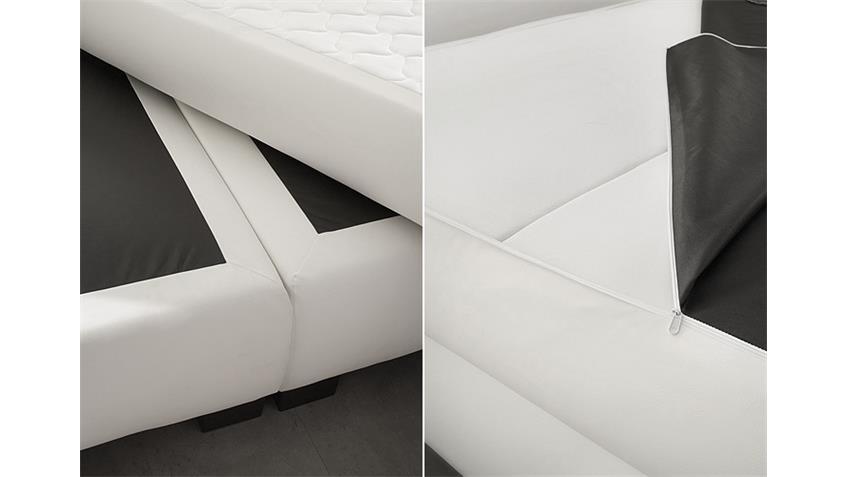 Boxspringbett BX 300 Bett Schlafzimmerbett in weiß 140x200