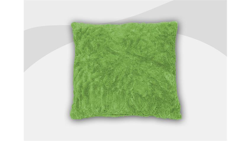 Kissen VANESSA Zierkissen Cocktailkissen in grün 40x40 cm