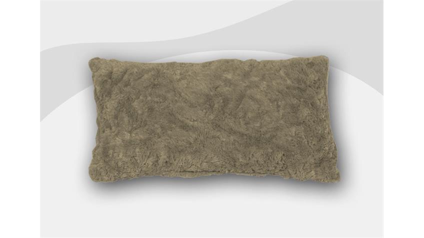 Armlehnkissen VANESSA Zierkissen Kissen in Stone 40x60 cm