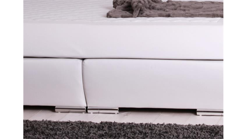Boxspringbett BX750 weiß mit Kopfteil Liegefläche 180x200cm