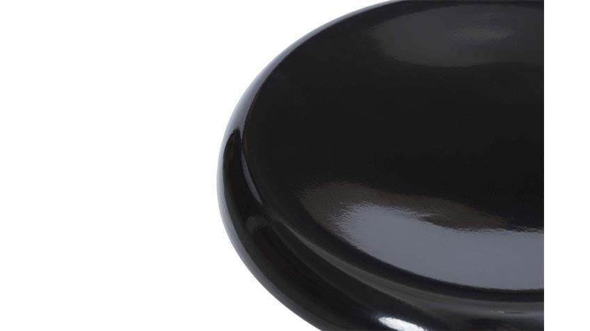 Barhocker Industrial Design Stahl Metall schwarz Hochglanz