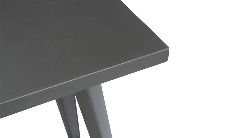 Bartisch Industrial grau Stehtisch Konsolentisch Stahl