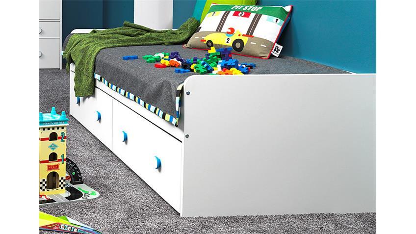 Jugendzimmer COMBEE Weiß inkl. Faltboxen Apfelgrün