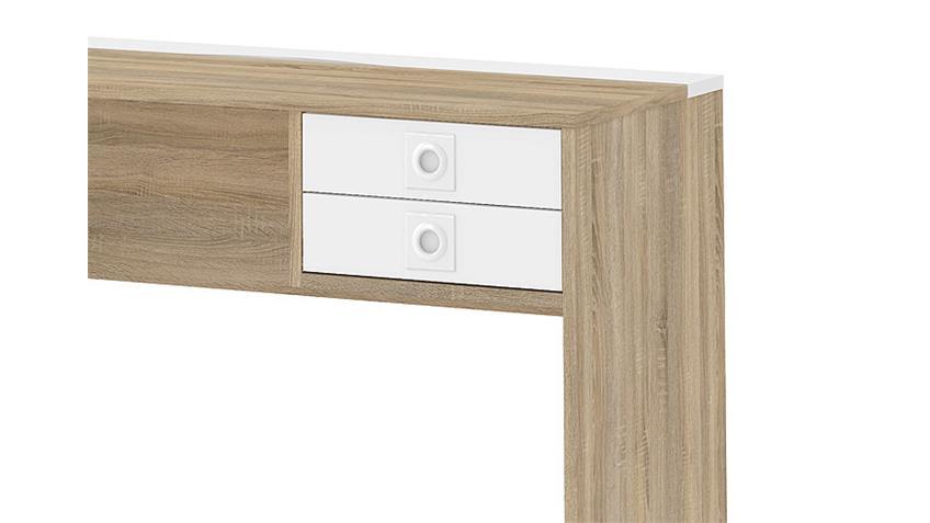 Schreibtisch FUNCTION PLUS 80112 Eiche und Weiß