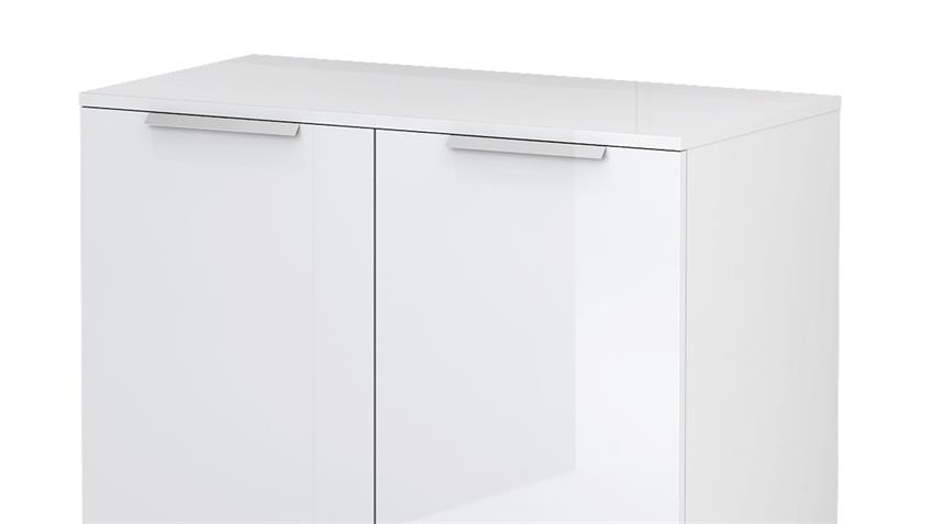 Kommode BLIZZ in weiß Hochglanz mit 2 Türen