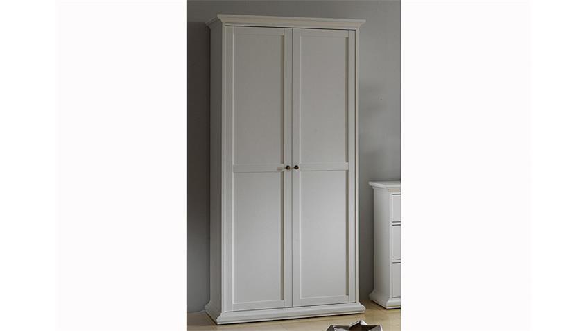 Kleiderschrank 1 PARIS Schlafzimmer Jugendzimmer in weiß