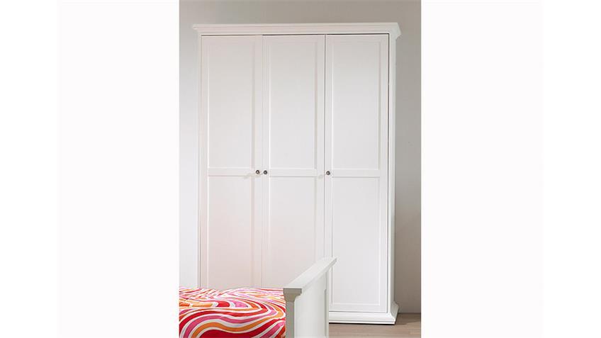 Kleiderschrank 2 PARIS Schlafzimmer Jugendzimmer in weiß