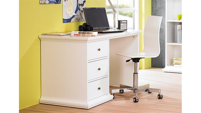 Schreibtisch PARIS Computertisch PC Tisch in weiß Dekor