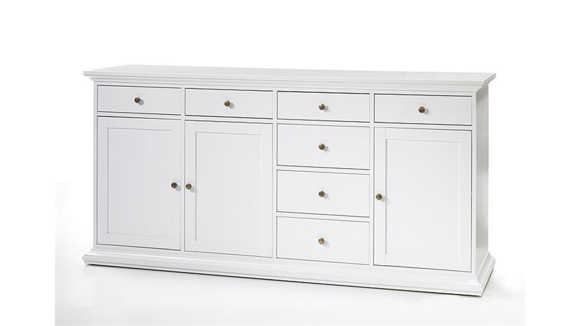 Sideboard 3 PARIS Kommode in weiß Dekor Landhausstil 3 türig