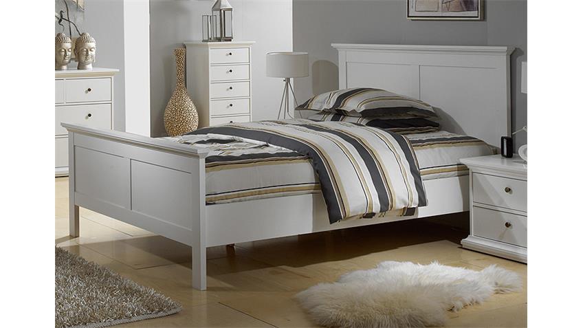 Schlafzimmer PARIS Kleiderschrank Bett Nakos 3 Tlg  in weiß