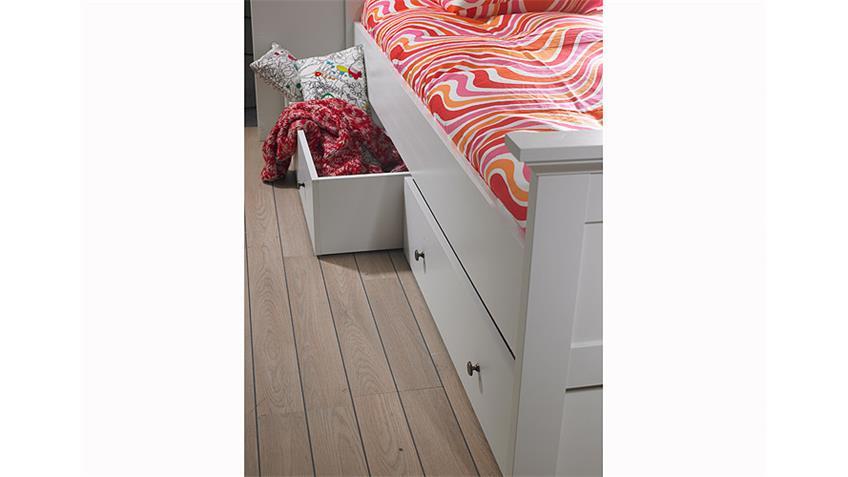 Jugendzimmerset 2 PARIS Kleiderschrank Bett Regal in weiß