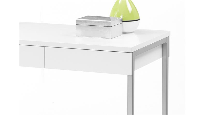 Schreibtisch FUNCTION PLUS weiß mit 3 Schubkästen