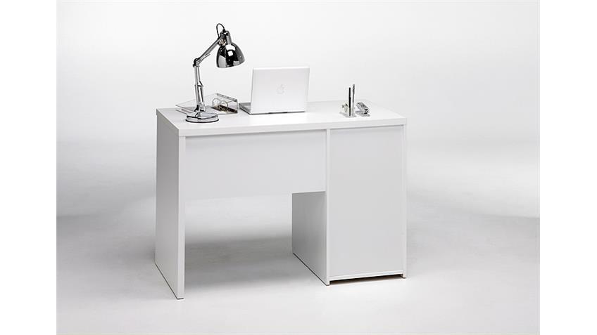Schreibtisch FUNCTION PLUS weiß mit 4 Schubkästen