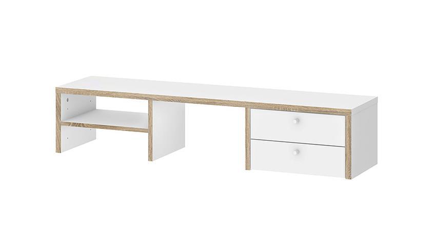 Schreibtisch TORONTO weiß Eiche Struktur 160x80 cm