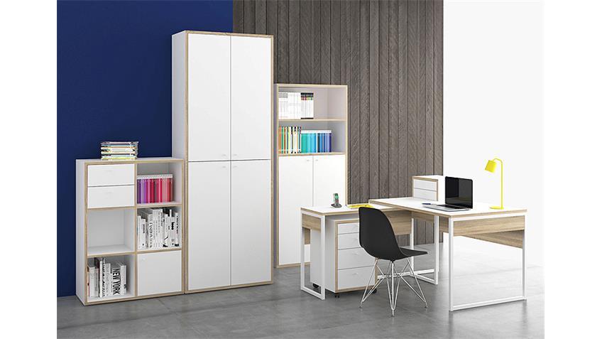 Schreibtisch TORONTO weiß Eiche Struktur 120x40 cm