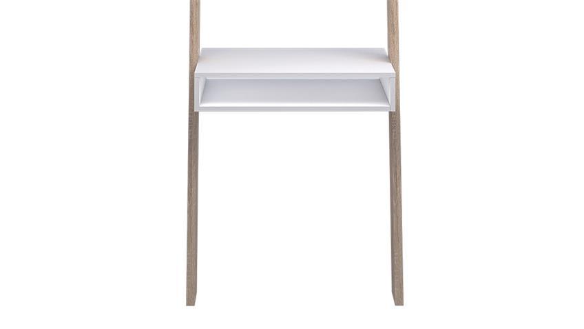 Schreibtisch FOKOS Regal in weiß und Eiche Struktur