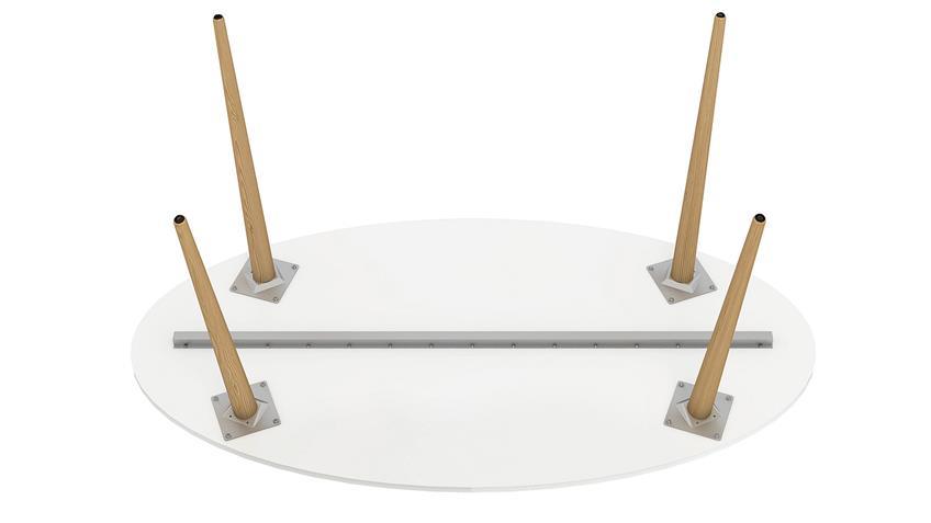 Esstisch FOKOS in weiß und Eiche Struktur 160x80 cm