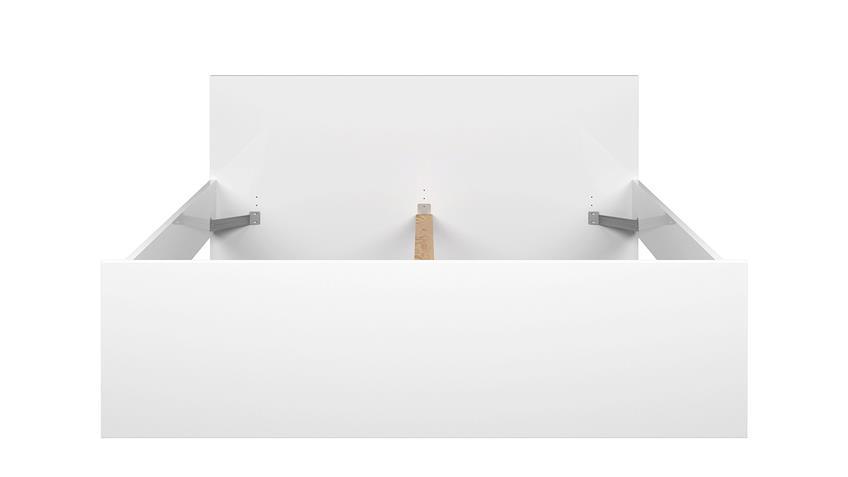 Bett NAIA Futonbett in weiß Hochglanz 160x200 cm