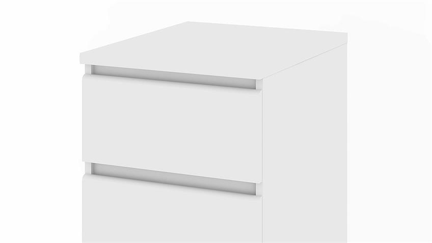 Kommode NAIA Schrank in weiß mit 3 Schubkästen