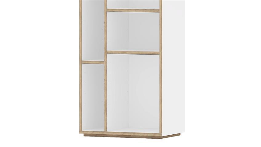 Regal CARIO Bücherregal in weiß Eiche Struktur 10 Böden