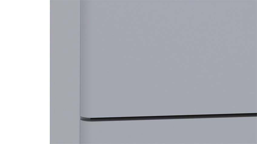 Schubkastenkommode ROUND in grau 3 Schubkästen