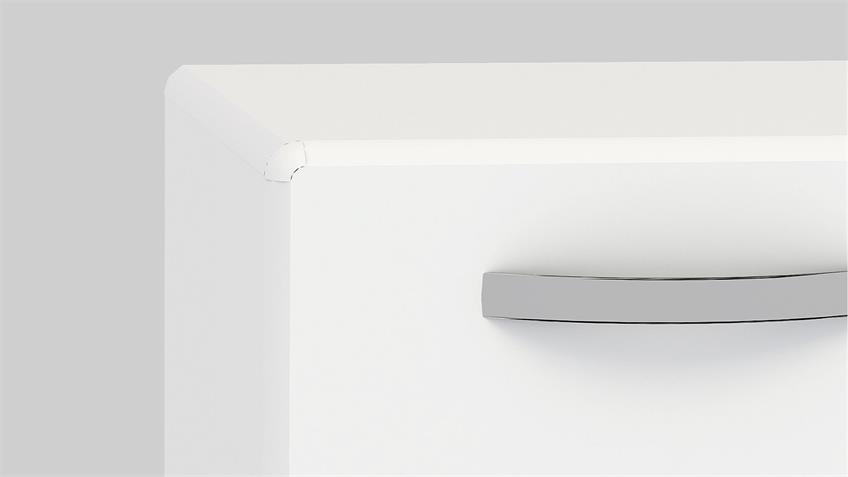 Stauraumelement ROUND in weiß mit 2 Türen