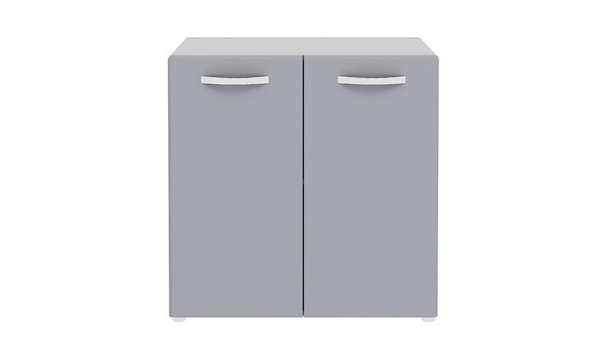 Stauraumelement ROUND in grau mit 2 Türen
